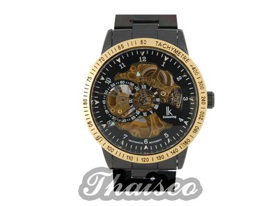 Moderne armbanduhr herren  Moderne Herren Armbanduhr - Automatikuhr golden - Edelstahl
